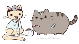 sick pusheen