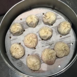Dessert Xiao Long Bao: red bean and taro filled dumplings